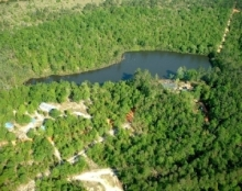 to natural lakes in the heart of the country wilderness,