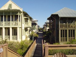 The styles of architecture of Rosemary Beach, Florida are wide and varied.